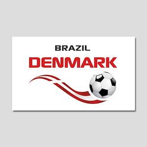 Soccer 2014 DENMARK Car Magnet 20 x 12