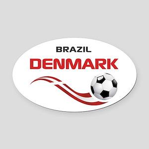 Soccer 2014 DENMARK Oval Car Magnet