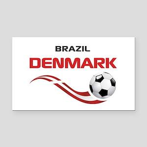 Soccer 2014 DENMARK Rectangle Car Magnet