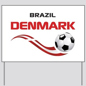 Soccer 2014 DENMARK Yard Sign