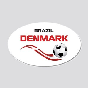 Soccer 2014 DENMARK 20x12 Oval Wall Decal