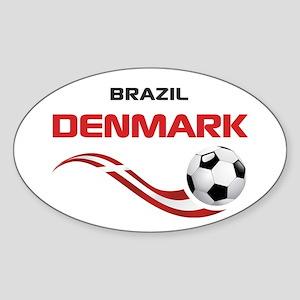 Soccer 2014 DENMARK Sticker (Oval)