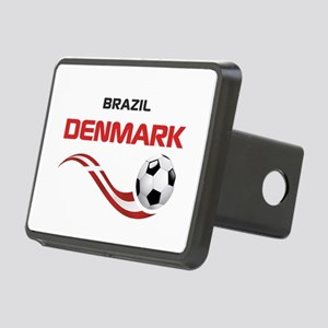 Soccer 2014 DENMARK Rectangular Hitch Cover