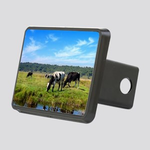 Beautiful Cow Landscape Rectangular Hitch Cover