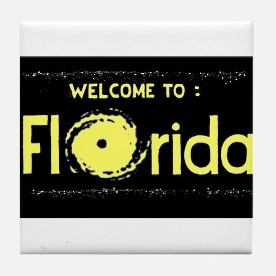 The Hurricane State Tile Coaster