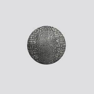 Crocodile Leather Mini Button