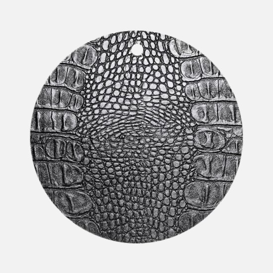 Crocodile Leather Round Ornament
