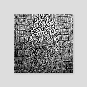 """Crocodile Leather Square Sticker 3"""" x 3"""""""
