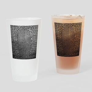 Crocodile Leather Drinking Glass