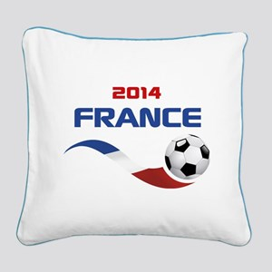 Soccer 2014 FRANCE Square Canvas Pillow