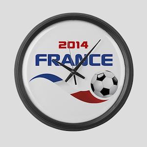 Soccer 2014 FRANCE Large Wall Clock