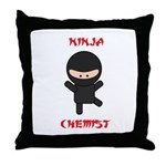 Ninja Chemist Throw Pillow