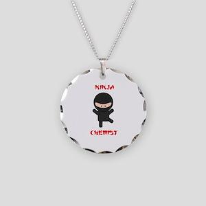 Ninja Chemist Necklace Circle Charm