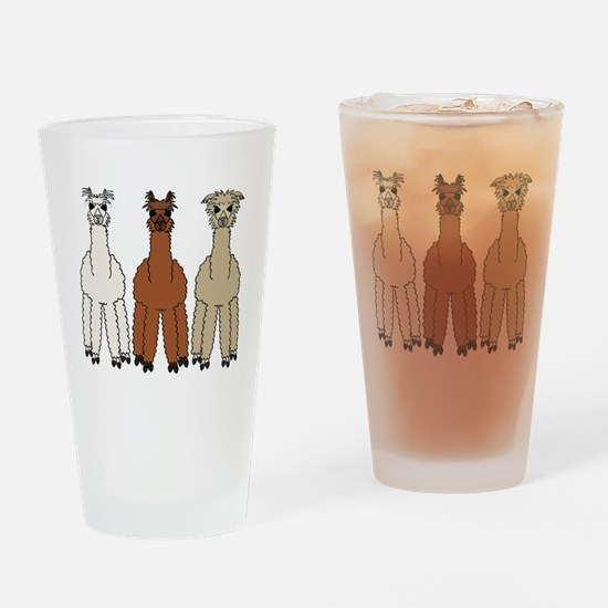 alpaca - no text Drinking Glass