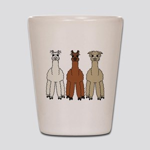 alpaca - no text Shot Glass