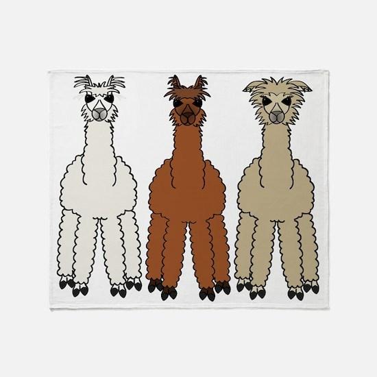 alpaca - no text Throw Blanket