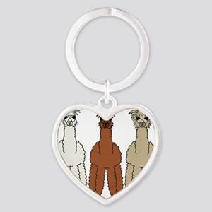 alpaca - no text Heart Keychain