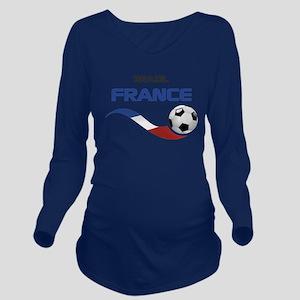 Soccer 2014 FRANCE 1 Long Sleeve Maternity T-Shirt