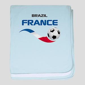 Soccer 2014 FRANCE 1 baby blanket