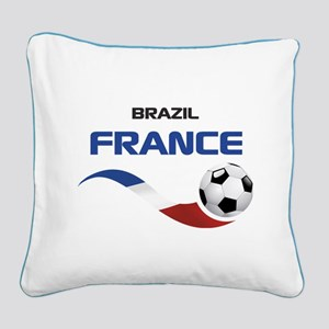 Soccer 2014 FRANCE 1 Square Canvas Pillow