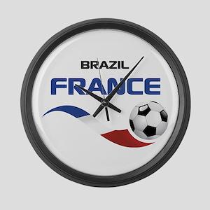 Soccer 2014 FRANCE 1 Large Wall Clock