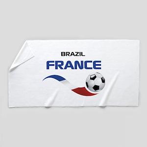 Soccer 2014 FRANCE 1 Beach Towel