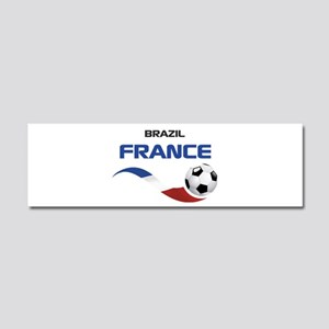 Soccer 2014 FRANCE 1 Car Magnet 10 x 3