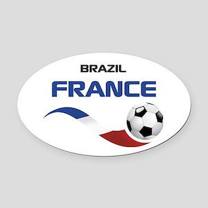 Soccer 2014 FRANCE 1 Oval Car Magnet