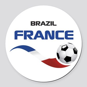 Soccer 2014 FRANCE 1 Round Car Magnet