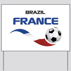 Soccer 2014 FRANCE 1 Yard Sign