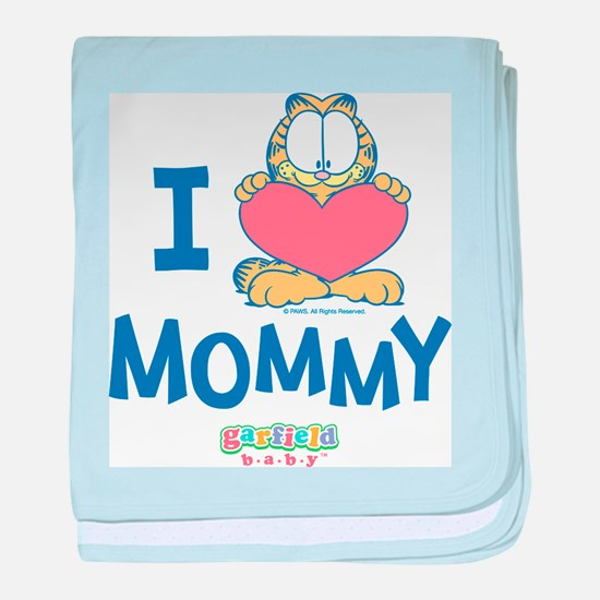 Baby GARFIELD, Heart Mommy, baby blanket