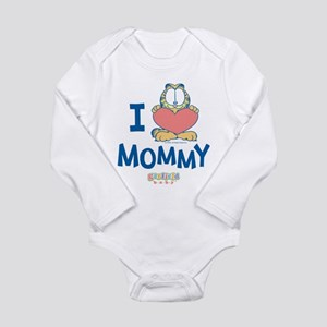 Baby GARFIELD, Heart Mommy, Long Sleeve Infant Bod