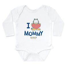 Baby GARFIELD, Heart Mommy, Long Sleeve Infant Bod