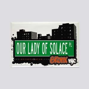 Our Lady of Solace Pl Rectangle Magnet