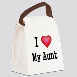 I LOVE MY AUNT Canvas Lunch Bag