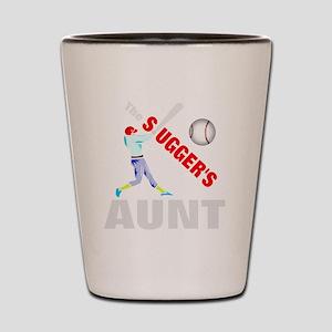 Baseball players aunt Shot Glass