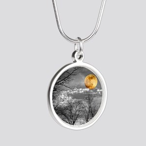 Harvest Moon Silver Round Necklace