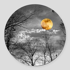 Harvest Moon Round Car Magnet