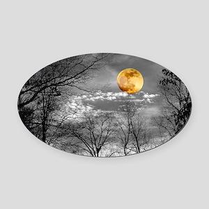 Harvest Moon Oval Car Magnet