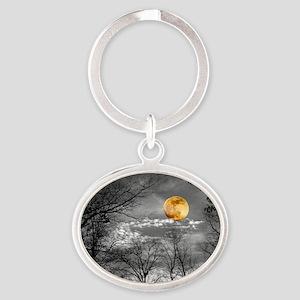 Harvest Moon Oval Keychain