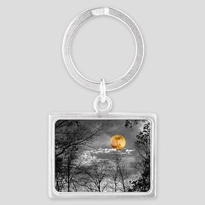 Harvest Moon Landscape Keychain