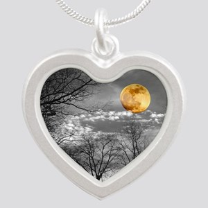 Harvest Moon Silver Heart Necklace