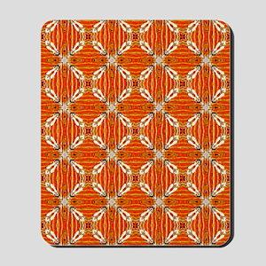 Funky Artsy Patterned Orange Mousepad