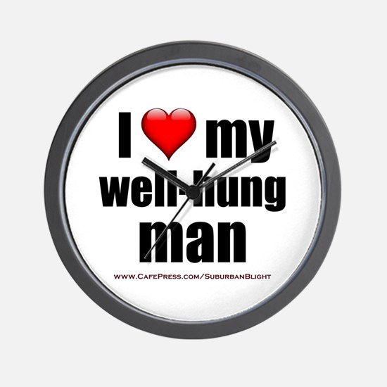 """Love My Well-Hung Man"" Wall Clock"