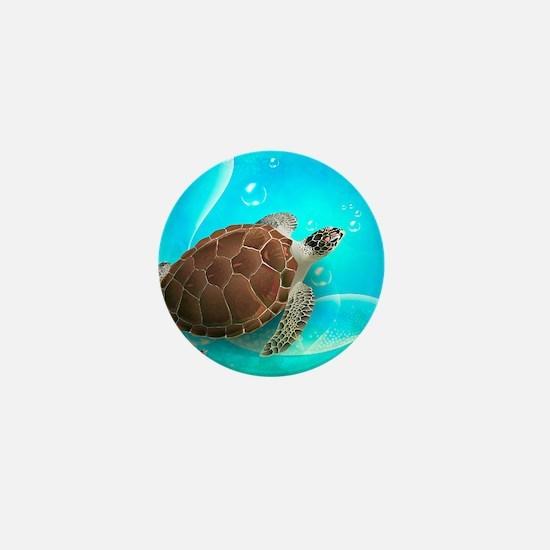 Cute Sea Turtles Mini Button