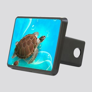Cute Sea Turtles Rectangular Hitch Cover
