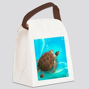 Cute Sea Turtles Canvas Lunch Bag