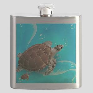 Cute Sea Turtles Flask