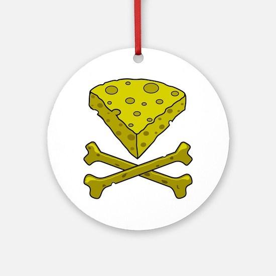 Cheese & Crossbones Round Ornament