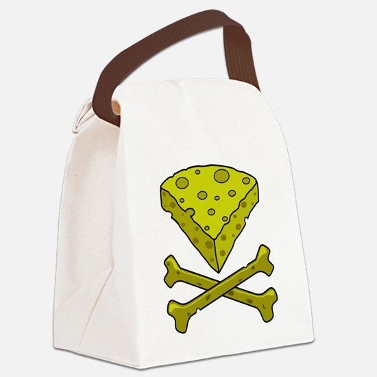 Cheese & Crossbones Canvas Lunch Bag